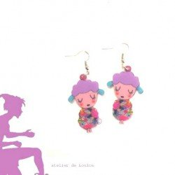 boucles oreilles mouton | sheep earing