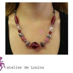 collier perle | collier rose | collier personnalisé