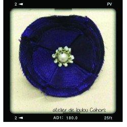 broche violet | broche tissu | broche perle