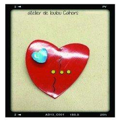 broche coeurs | heart brooch