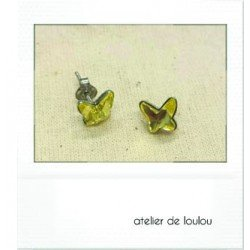 clou swarovski papillon | boucle papillon | butterfly earing