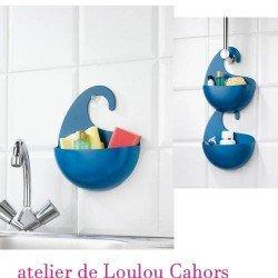 brosse à ongle porte savon -  KOZIOL - bleu