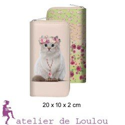 Achat portefeuille chat liberty