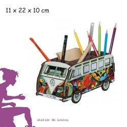 werkhaus | combi vw | voiture pot crayon | pot crayon peace love