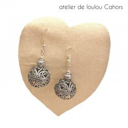 boucles oreilles baroque | boucle oreille métal argent
