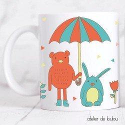 mug lapin | tasse chouette | tasse ours