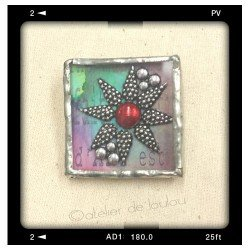 broche rétro | broche carré | broche étoile