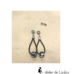boucle zèbre | zebra earing | boucle pendante