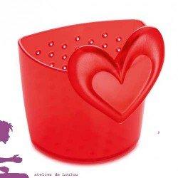 lot de 4 cuillères cœurs koziol - sans bisphénol A -