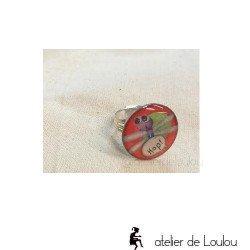 Bague libellule | bague réglable| dragonfly ring