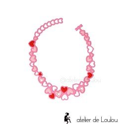collier gomme | collier batucada | collier fillette