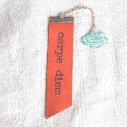 marque page cuir   bijou livre   bijou fait main