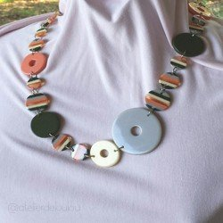 collier | collier résine | collier multicolore