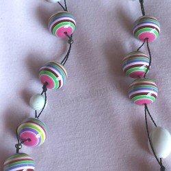 collier   collier résine   collier multicolore