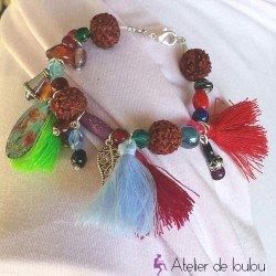 bracelet pompon | bracelet pas cher | bracelet multicolore | achat bracelet