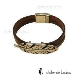 Bracelet cuir homme | bracelet cuir
