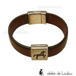 bracelet ado cheval | bracelet cuir ado