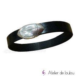 bracelet cuir | bracelet cuir noir | bracelet rugbyman