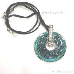 Collier créateur | collier bleu