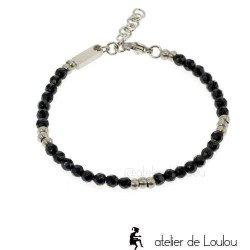 achat bracelet acier onyx