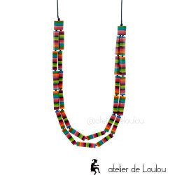 achat collier multicolore