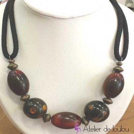 Collier perles bois atelier de loulou for Miroir sans tain achat