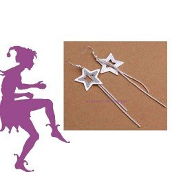 boucles oreilles étoiles | star earing