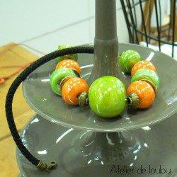 Achat joli collier vert orange