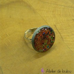 Bague multicolore | bague artisan