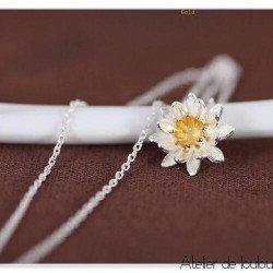 Achat collier fleur lotus   acheter bijou lotus
