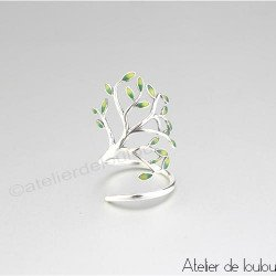Achat bague argent feuilles | buy ring leaves