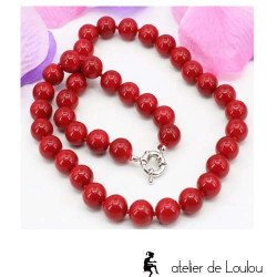 collier pas cher | collier rouge | collier perle rouge