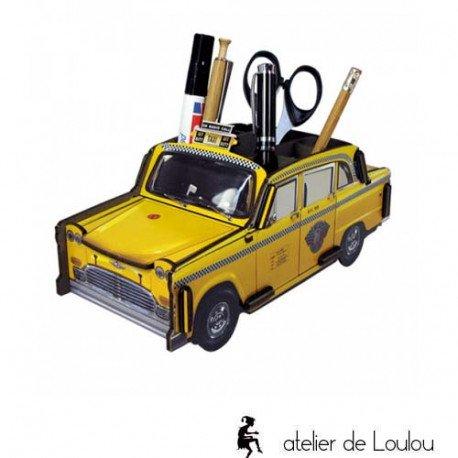 Pot crayon taxi jaune | new york | cadeau cahors