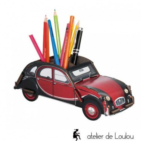 werkhaus | 2 cv charleston | pot crayon bois | voiture pot crayon