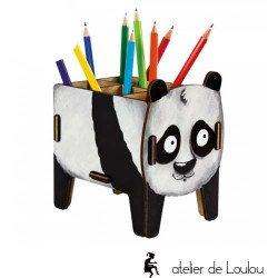acheter pot crayon panda | acheter pot crayon bois
