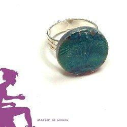 bague loulou | bague ginko | bague bleu | ginko ring