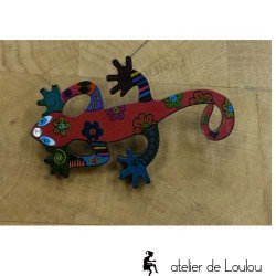 broche gecko | lizzard brooch | broche lézard