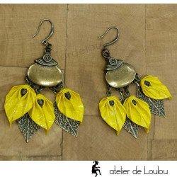 Achat boucle jaune | achat bijou jaune