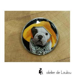 broche chien | french bouledogue brooch | broche bouledogue