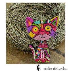 Achat bijou chat   broche avec chat