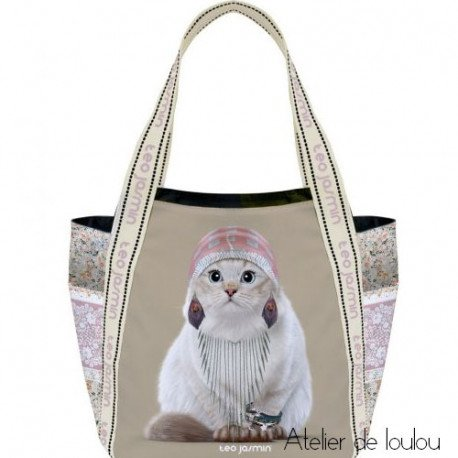 sac cabas jasmine   sac chat gitane   sac pour le repas
