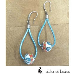 Achat boucle artisanal   acheter boucle bleu