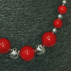 achat collier rouge | acheter collier perle rouge