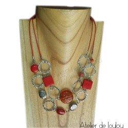 Achat collier orange | acheter collier orange fait main
