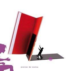 bloque livres - book stop - métal noir