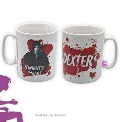 mug dexter | mug rouge | tasse rouge