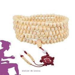 collier tibétain | achat collier en bois