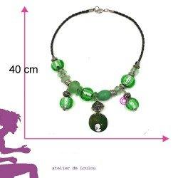 collier vintage | collier vert | vintage necklace | collier perle vert