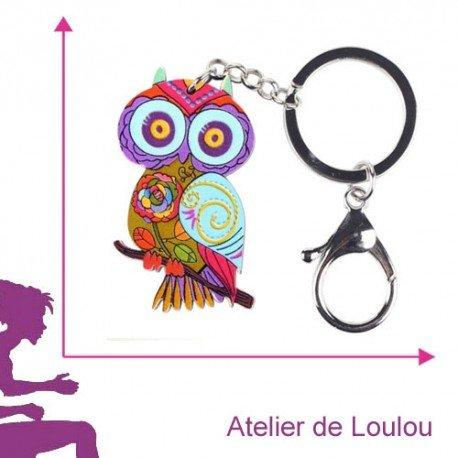 Porte Clé Chouette Atelier De Loulou - Porte clé chouette