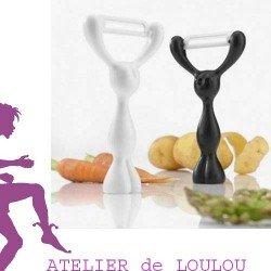 épluche légume céramique | koziol | ustensile cuisine | déco cuisine |